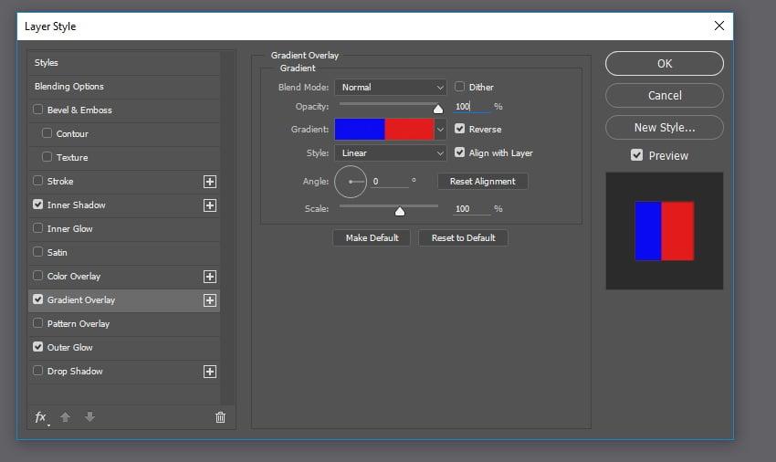 Apply Gradient Overlay