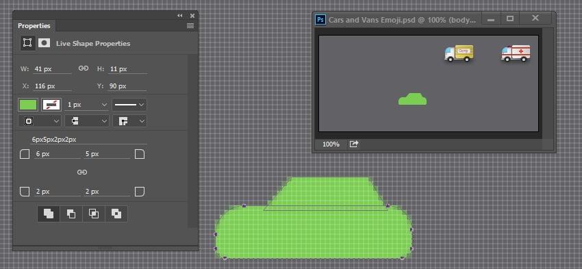 Draw car basic shape