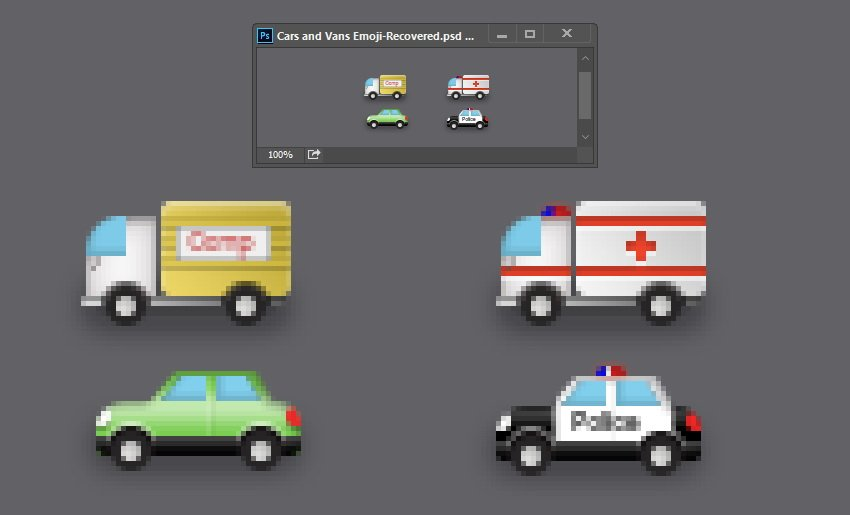 Ambulance is a variation of van and police car is a variation of car