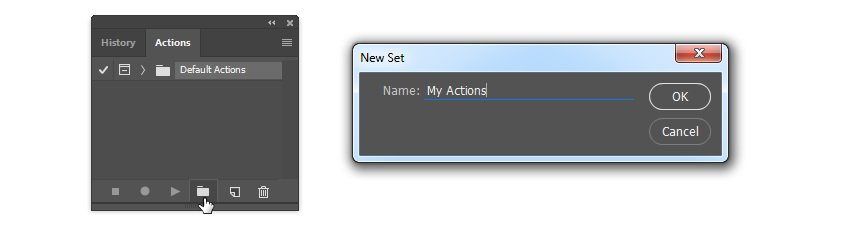 Add new action set