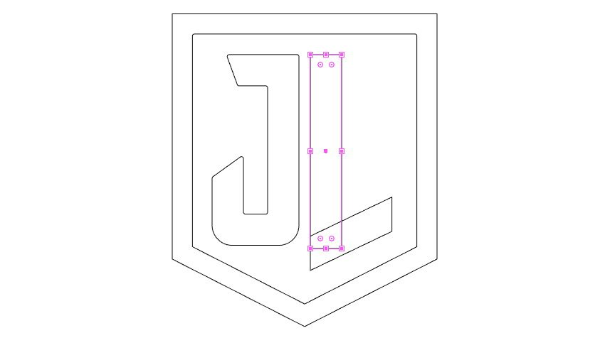add rectangle to letter