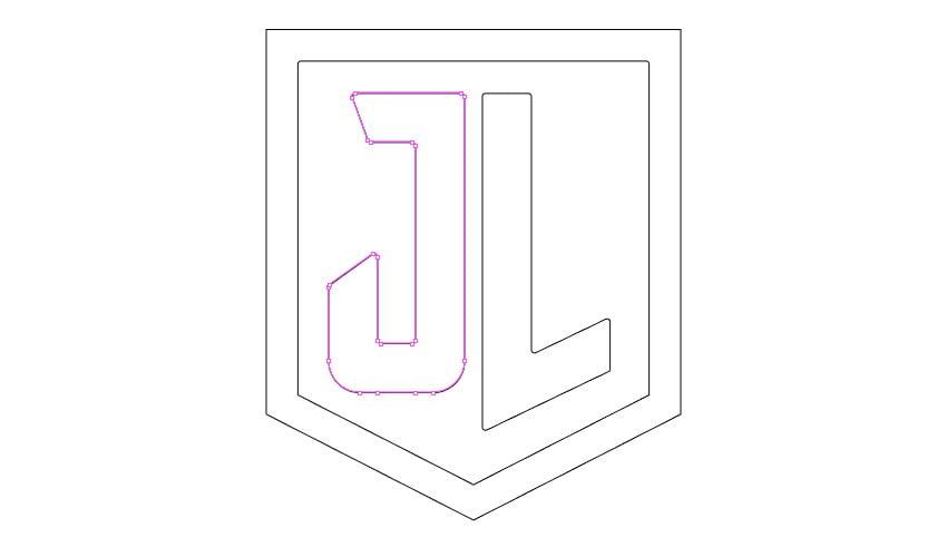 Remove points on letter J