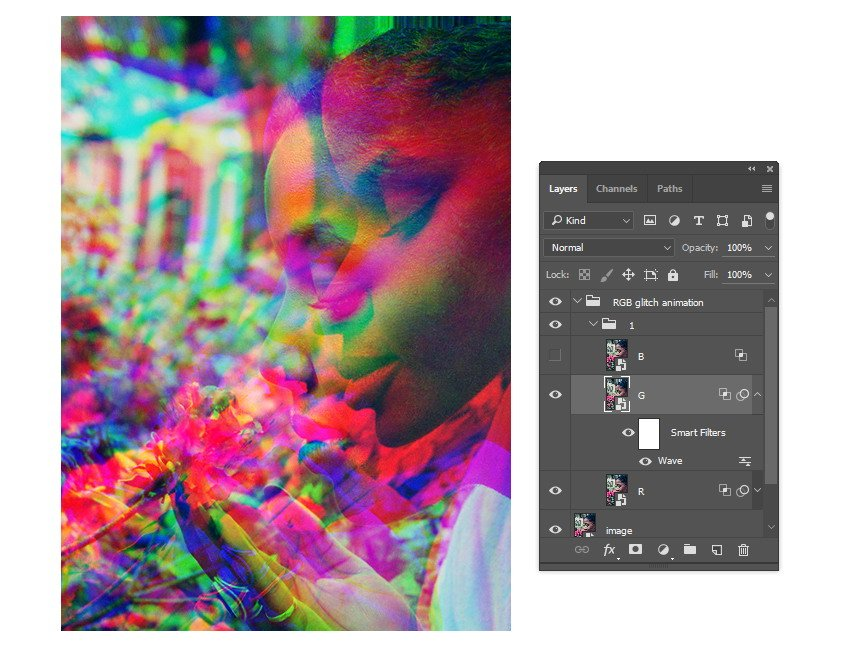 Apply distortion to the other layer