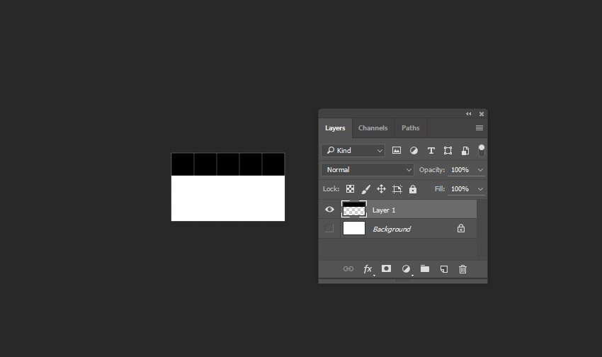Fill upper part of the canvas with black