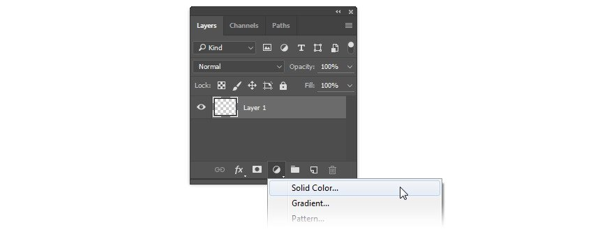 Add new solid color layer
