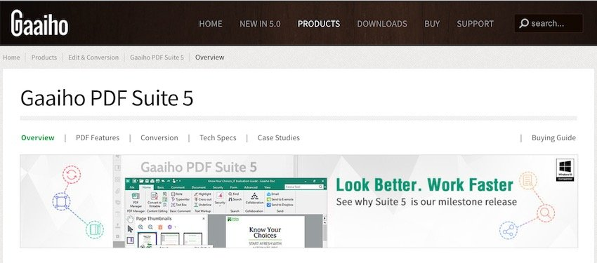 Gaaiho PDF Suite PDF software Adobe Acrobat alternative