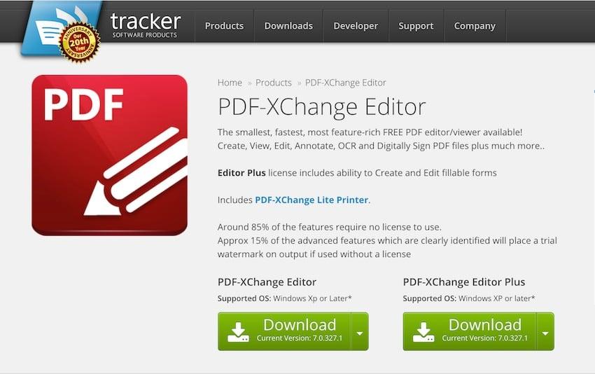 PDF-XChange Editor free PDF editor software