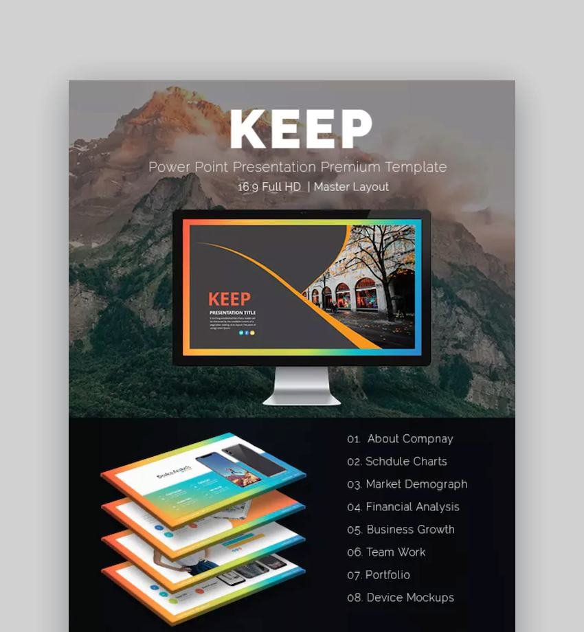 PowerPoint Presentation Template with Animation