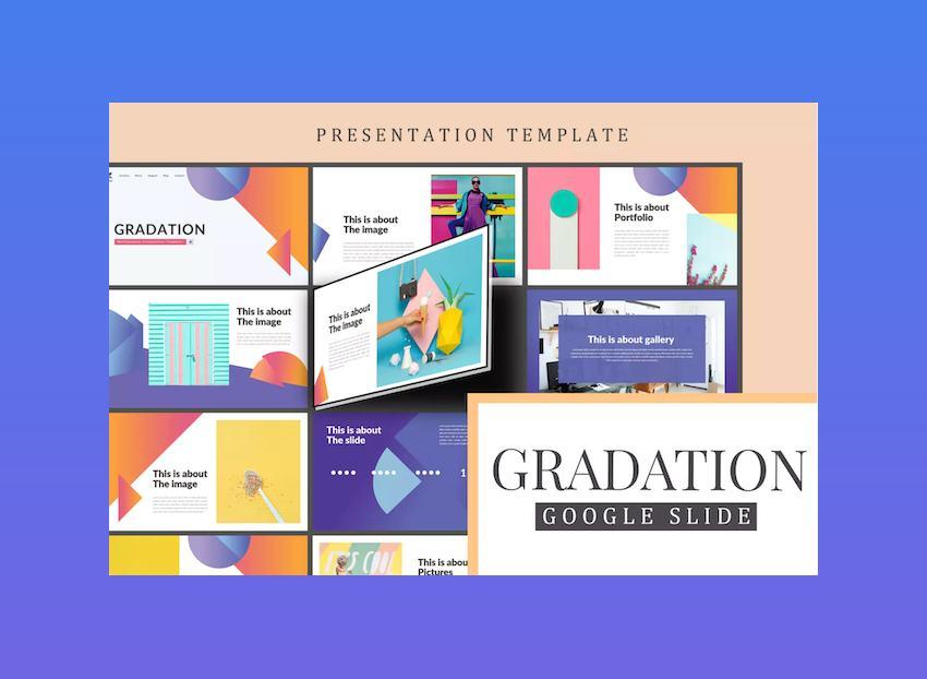Gradation Google Slides Template for Education