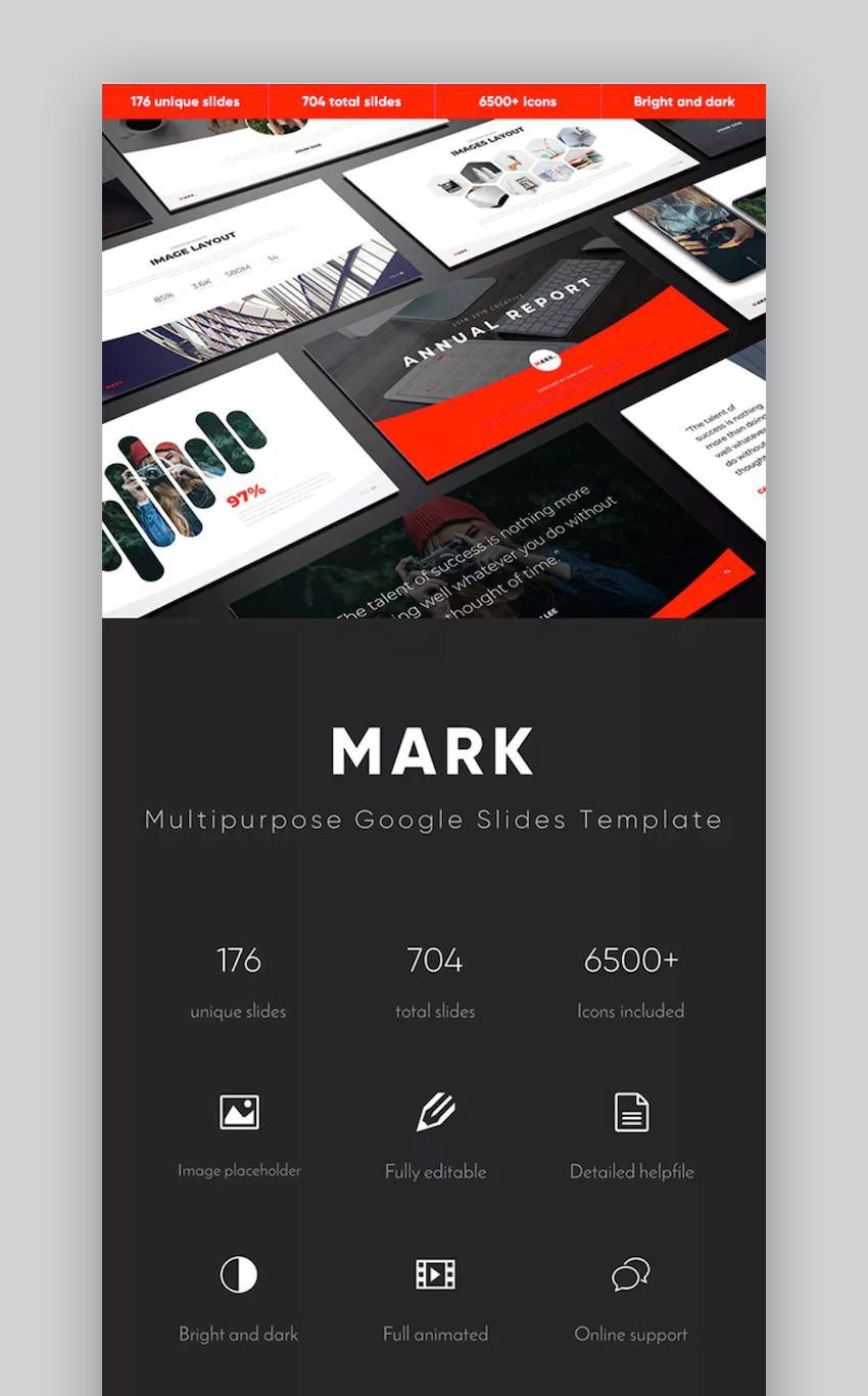 Mark Google Slides Themes for Teachers