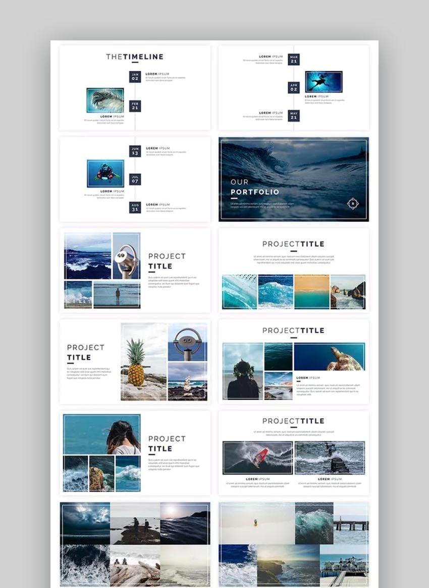 Reca Modern Google Slide Presentation Template