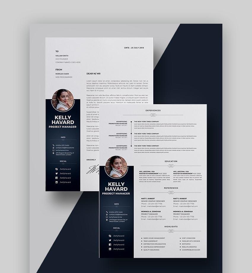High-Contrast Resume Design