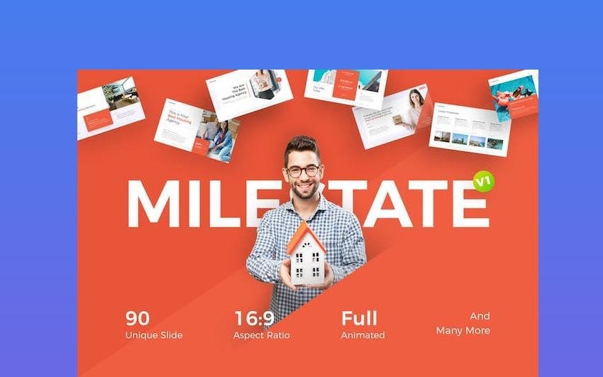 Milesetate Real Estate PowerPoint Template