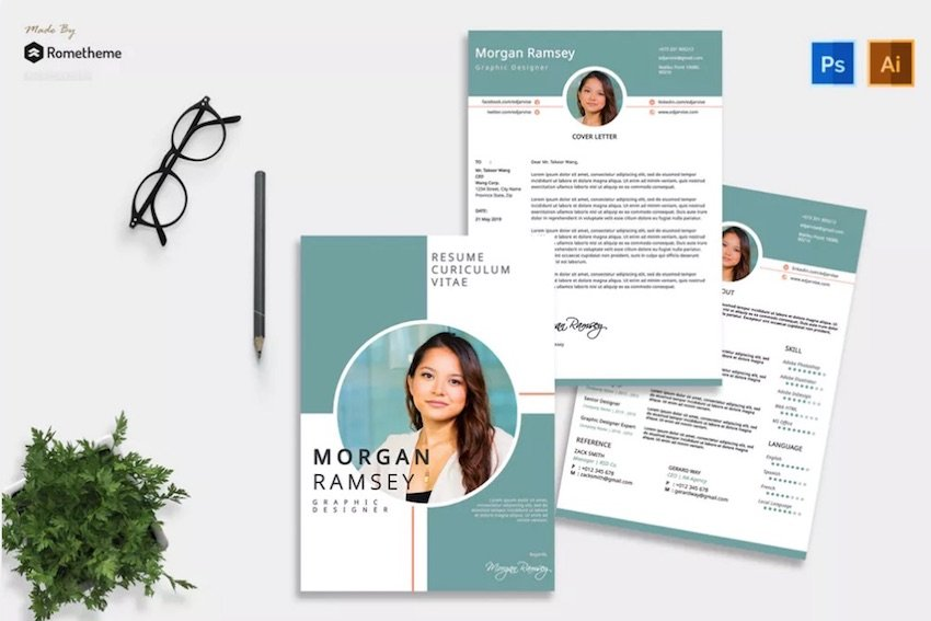 Acting Resume Template with Headshot