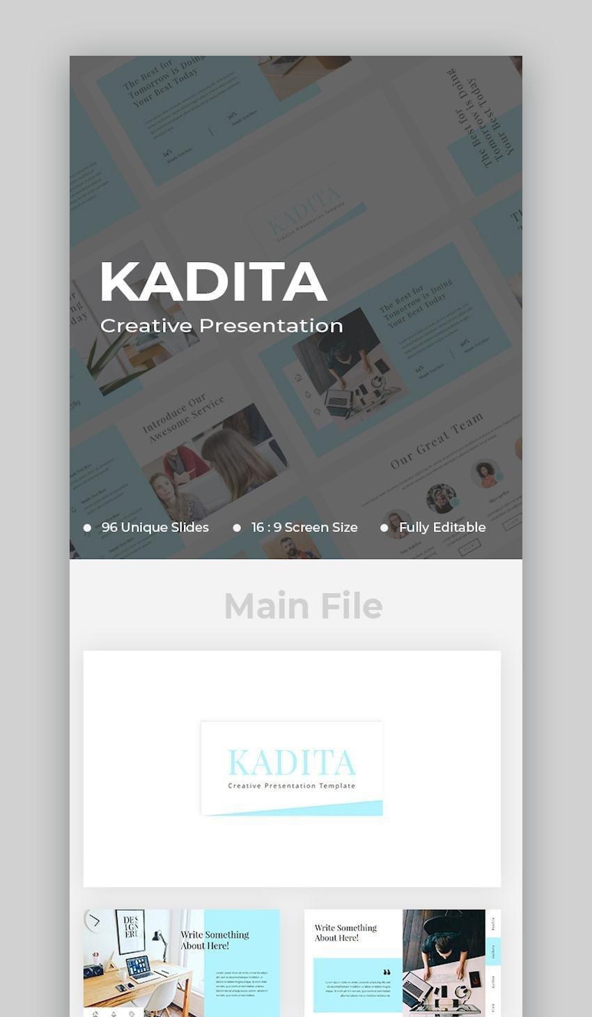 Kadita Creative Google Slides