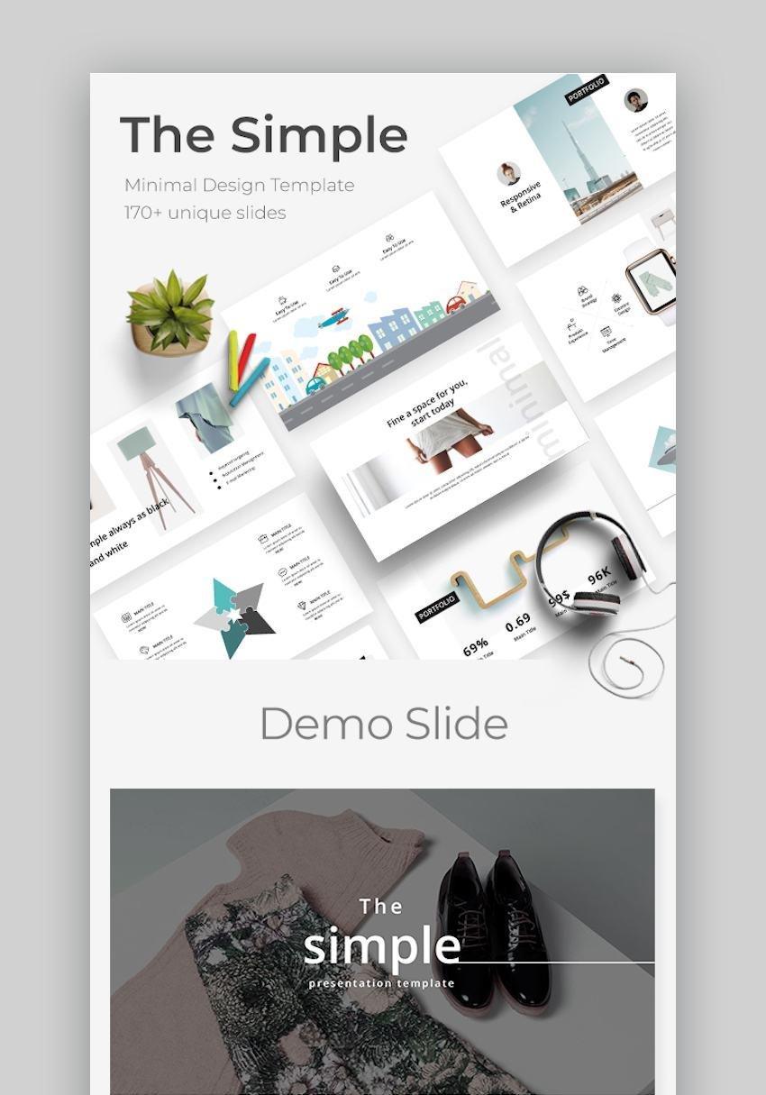 The Simple Minimal Google Slide Template