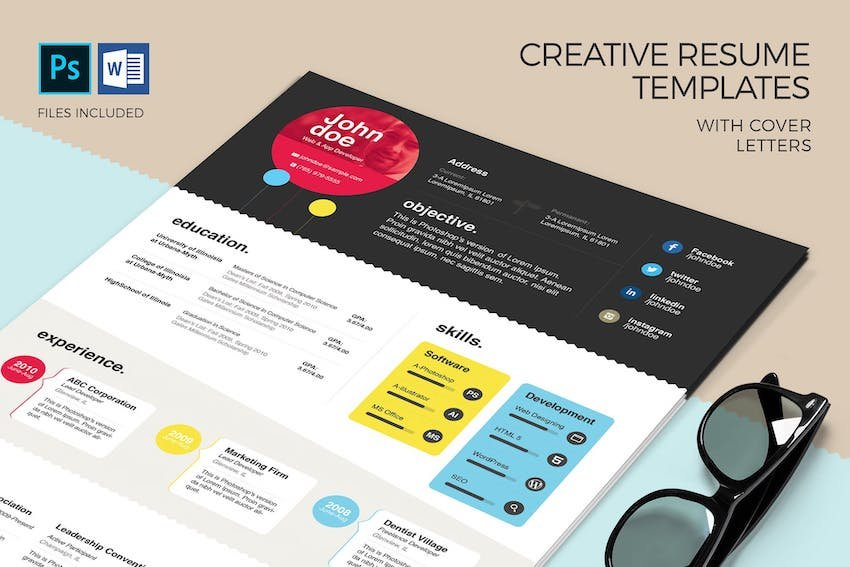 Creative Resume Template  Cover Letter
