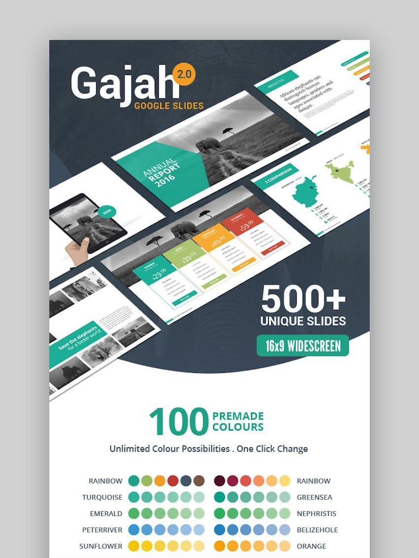 Gajah Google Slides Template with icons