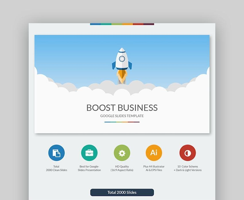Boost Business Google Slides Template with icons