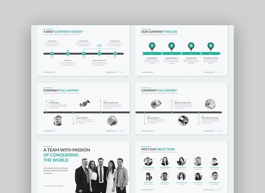 Business Proposal Google Slides Template with icons
