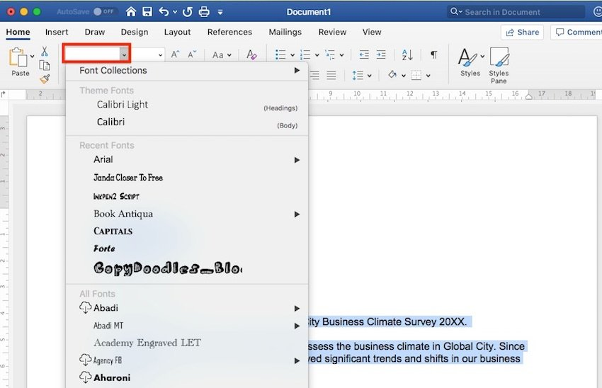 How to Change Fonts in Word