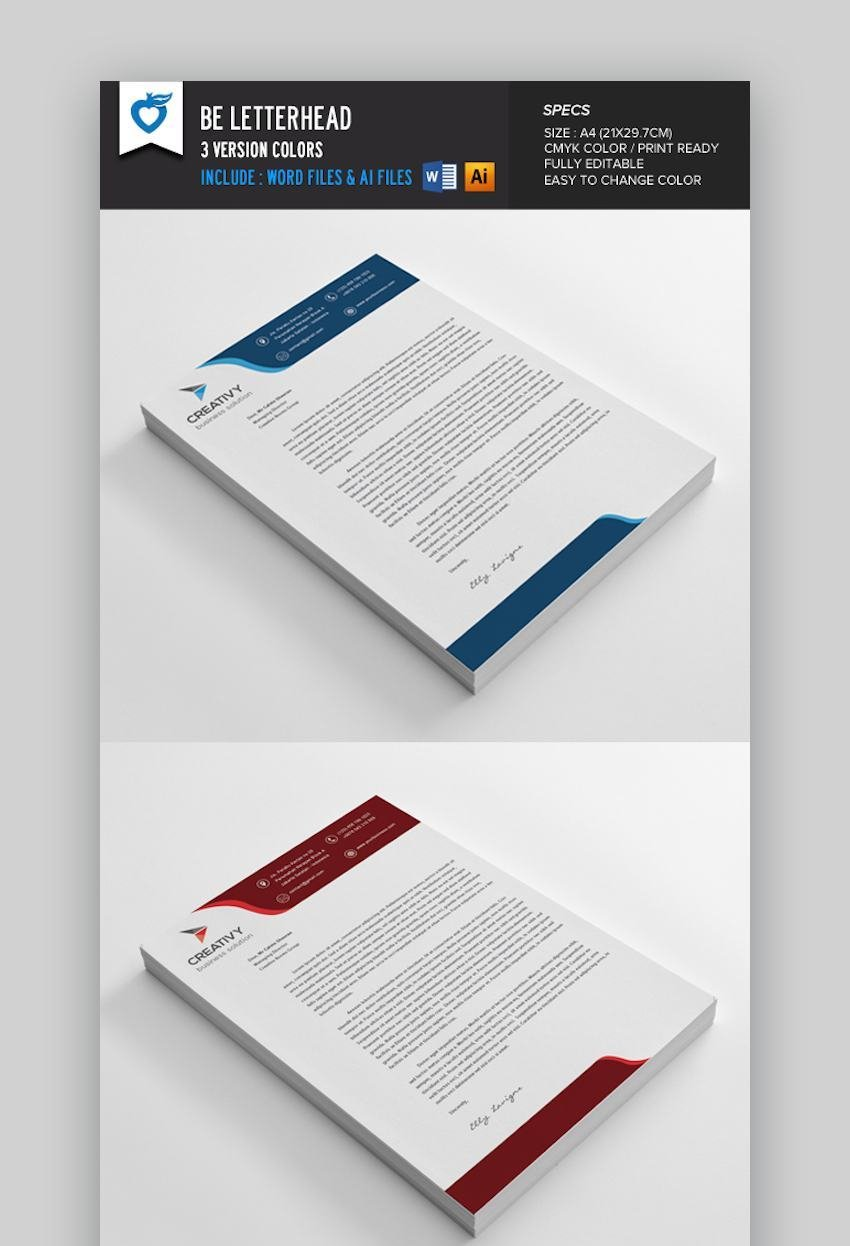 21 Best Free Microsoft Word Corporate Letterhead Templates Throughout Header Templates For Word