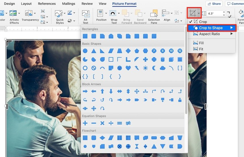 How to Crop a Picture to a Shape in Microsoft Word