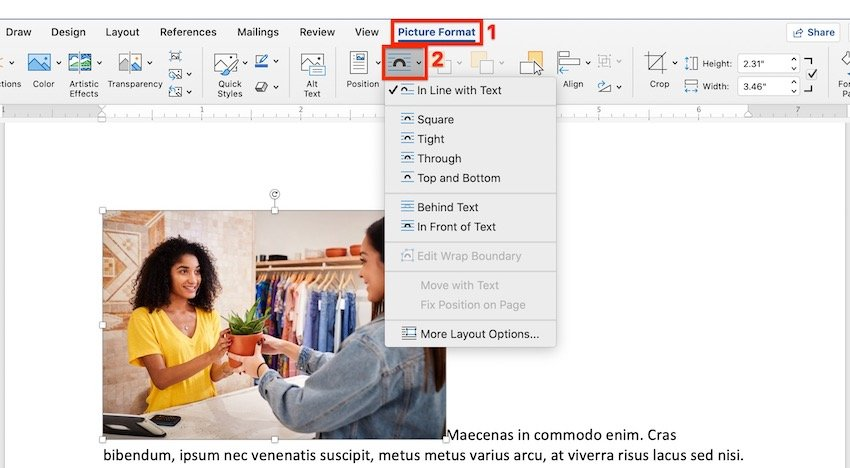 How to Wrap Text Around a Picture in Microsoft Word