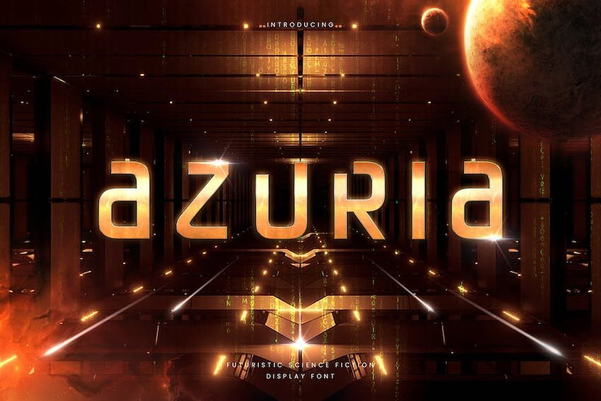 Azuria - Technology Science Font