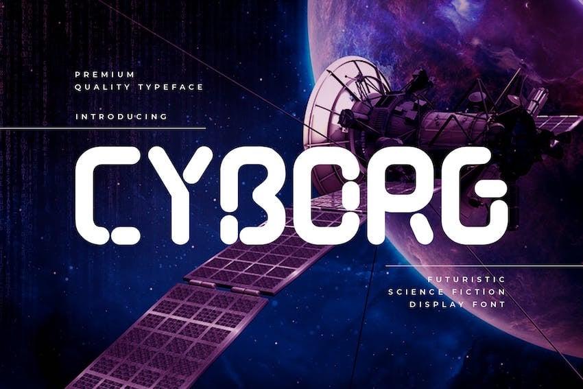 Cyborg - Futuristic Technology Typeface