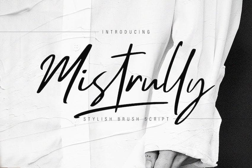 Mistrully Brush Script - Microsoft Word cursive font