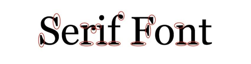 Microsoft Word font styles - Serif font