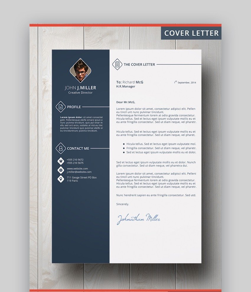 Cover Letter Template Word Doc - The CV by CodePower