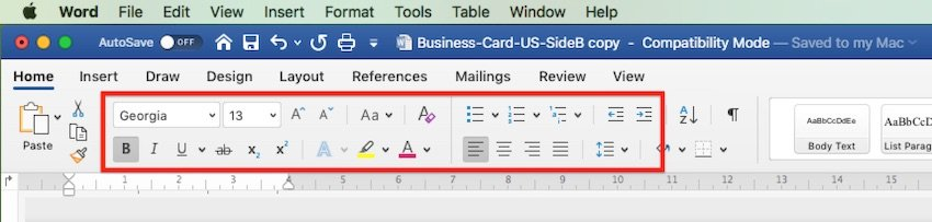 How to change Word templates - Font settings