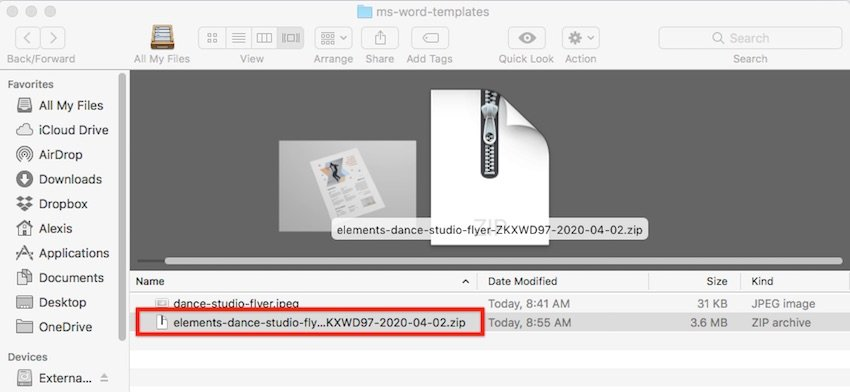 How to open templates in Word - Unzip template files