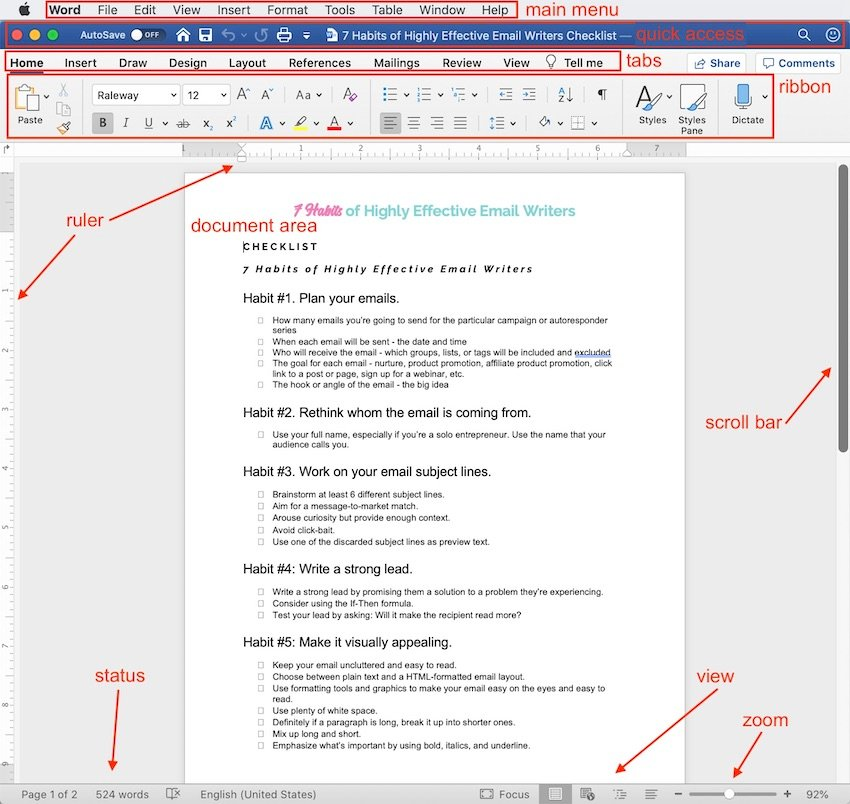 What Is MS Word - Interface