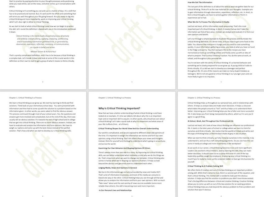 Microsoft Word background - custom text watermark