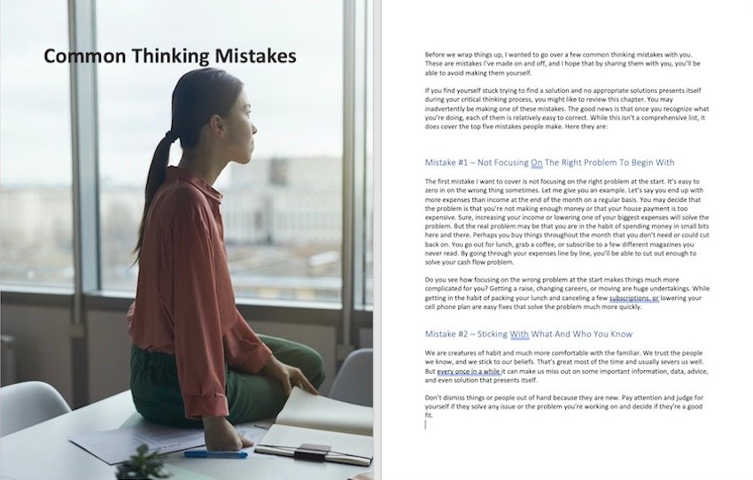 Microsoft Word background image full page - single page