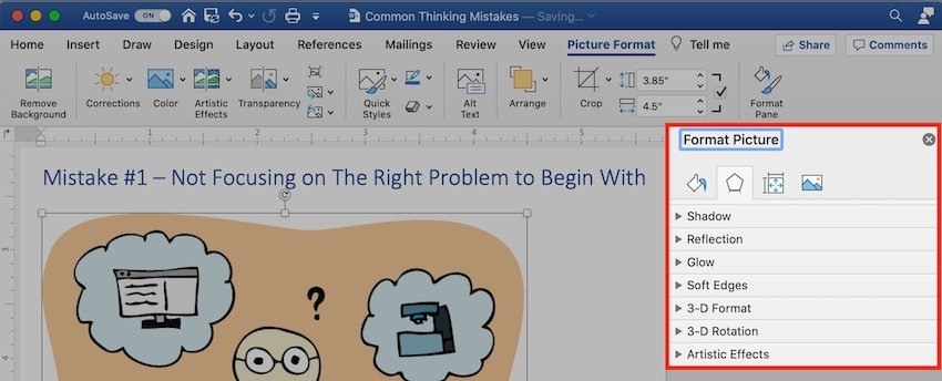 Microsoft clip art - format picture