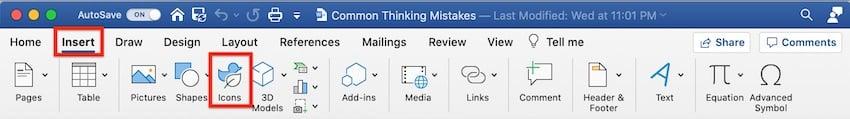 Microsoft clip art - insert icons