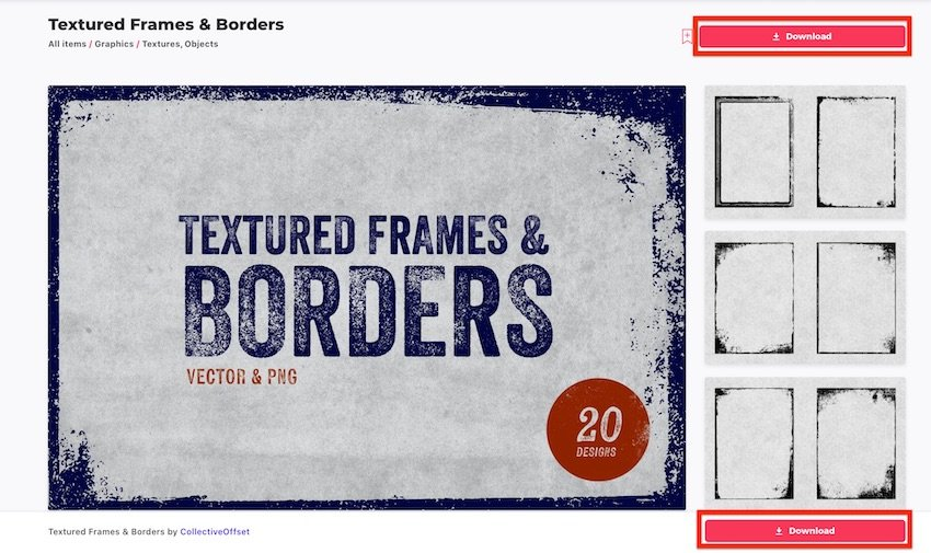 Word borders - Download from Envato Elements