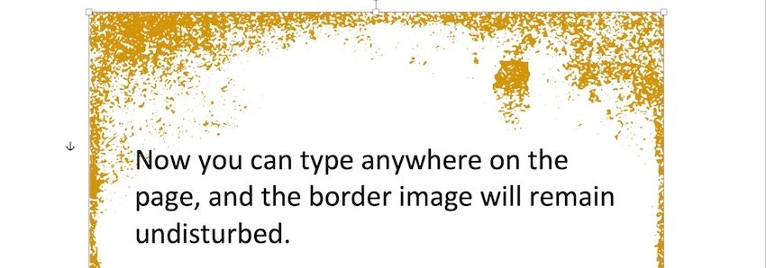 How to add border in Word - example