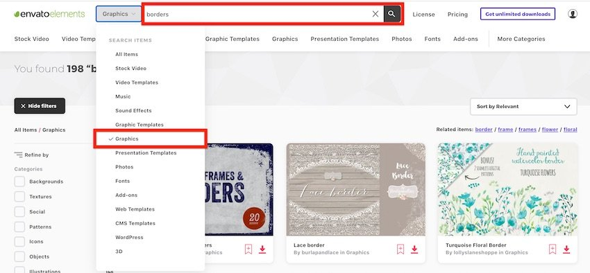 Borders for Word documents - Border templates