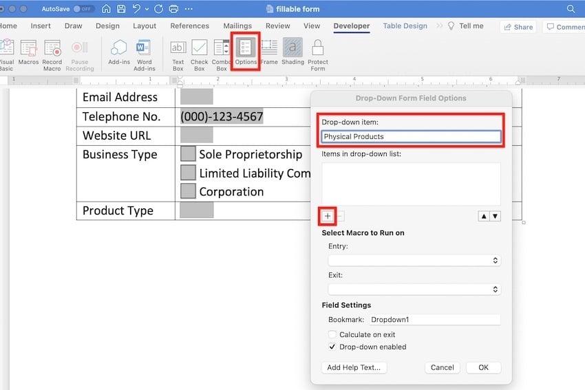 create editable word document