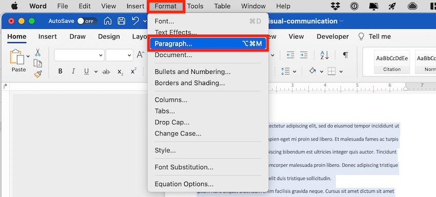 how to do a first line indent on microsoft word