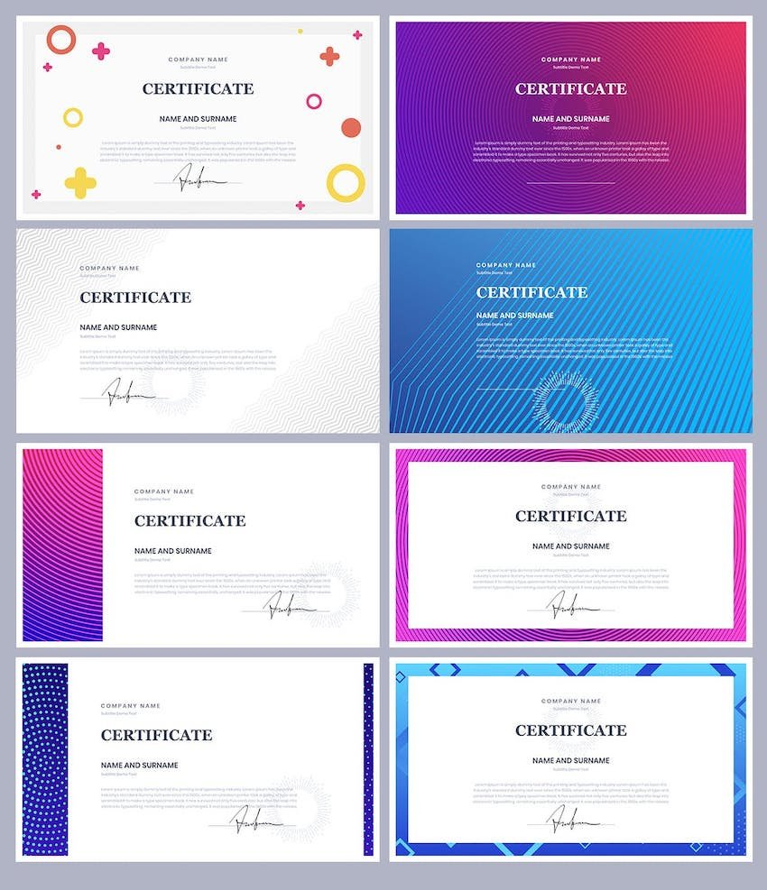 certificate and diploma powerpoint templates