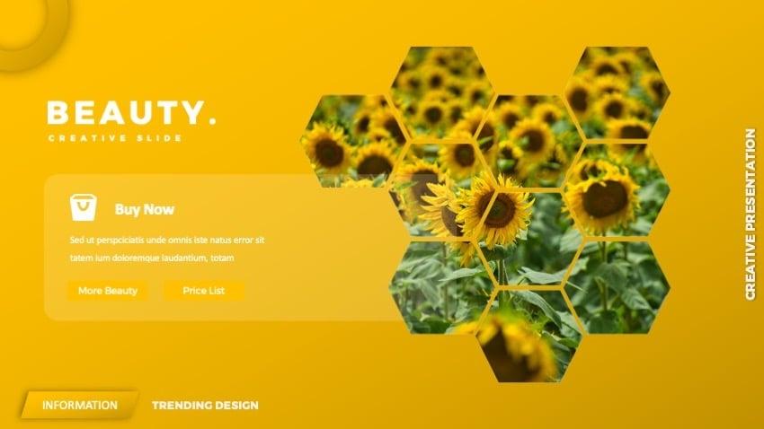flower slides - sunny yellow
