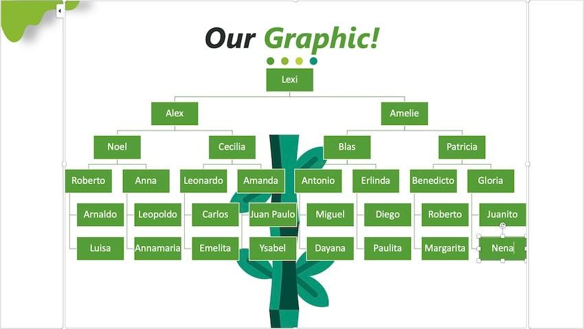 family tree template powerpoint - SmartArt