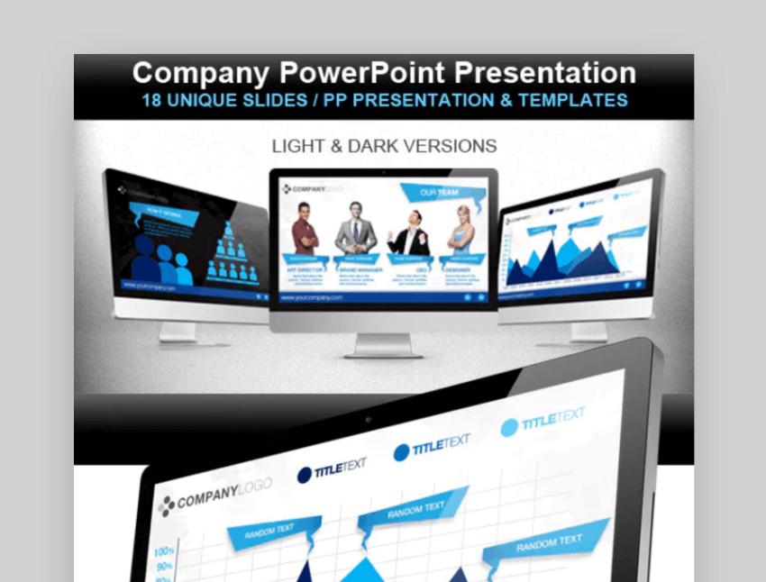 Company sample organizational chart powerpoint