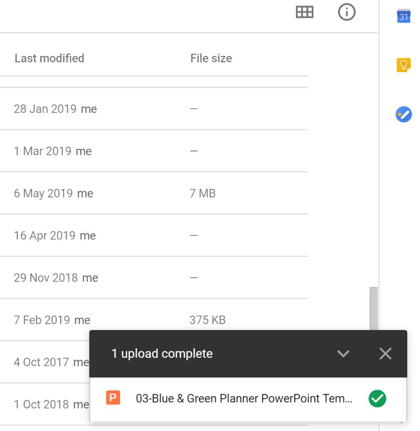 Google slides calendar template uploaded